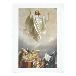 Christ Ascension to Heaven Observed by Apostles Card