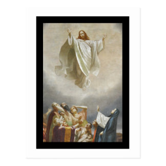 Christ Ascension to Heaven Observed by Apostles Postcard