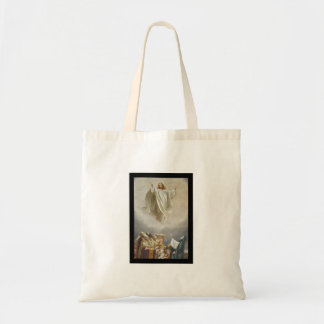 Christ Ascension to Heaven Observed by Apostles Tote Bag