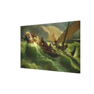 Christ Asleep in his Boat Canvas Print