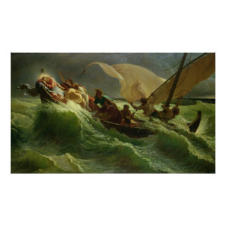 Christ Asleep in his Boat Print