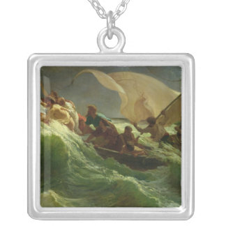 Christ Asleep in his Boat Silver Plated Necklace