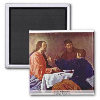 Christ At Emmaus By Diego Velázquez Fridge Magnet