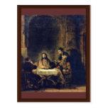 Christ At Emmaus By Rembrandt Harmensz. Van Rijn Post Cards