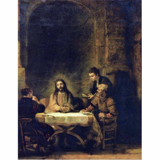 Christ At Emmaus By Rembrandt Harmensz. Van Rijn Statuette