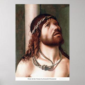 Christ At the Column by Antonello Damessina Print