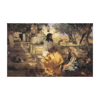 Christ at the Home of Martha and Mary Stretched Canvas Prints