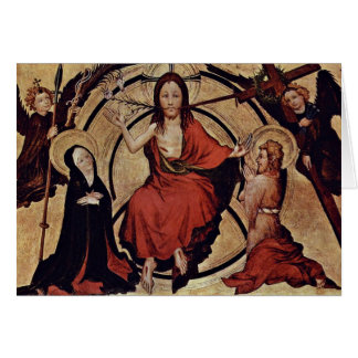 Christ At The Last Court By Norddeutscher Meister Cards