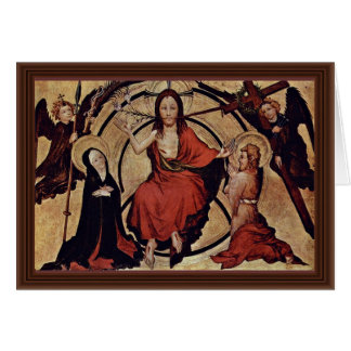 Christ At The Last Court By Norddeutscher Meister Card