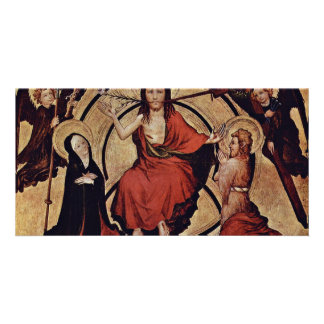 Christ At The Last Court By Norddeutscher Meister Photo Cards