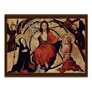 Christ At The Last Court By Norddeutscher Meister Postcard