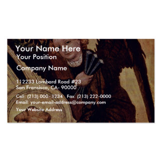 Christ At The Last Court Of  By Norddeutscher Business Card