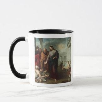 Christ at the Pool of Bethesda, 1667-70 (oil on ca Mug