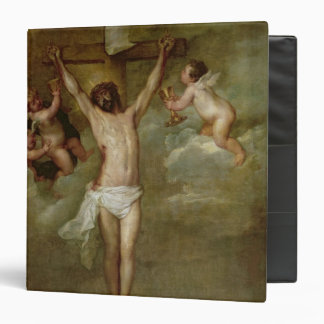 Christ attended by angels holding chalices binder