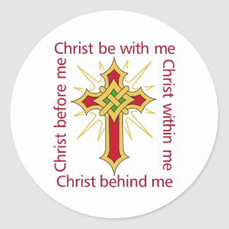 CHRIST BE WITH ME CLASSIC ROUND STICKER