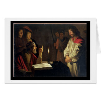 Christ Before Caiaphas (oil on canvas) Card