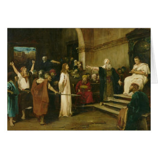 Christ Before Pilate, 1880 Card
