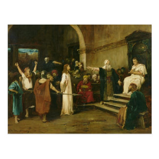 Christ Before Pilate, 1880 Postcard