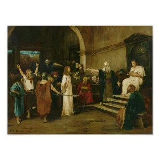 Christ Before Pilate, 1880 Poster