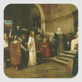 Christ Before Pilate, 1880 Square Sticker