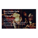 Christ Before Pilate By Maes Nicolaes Business Cards