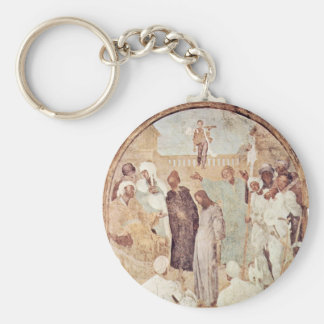 """Christ Before Pilate Fragment """" By Pontormo Jacop Keychain"""