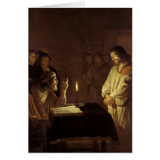 Christ before the High Priest, 1617 Card