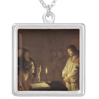 Christ before the High Priest, 1617 Square Pendant Necklace