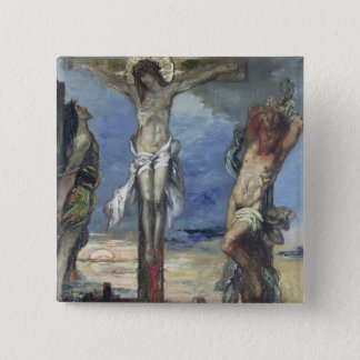 Christ between the Two Thieves, c.1870 Pinback Button