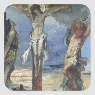 Christ between the Two Thieves, c.1870 Square Sticker