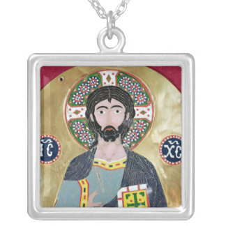 Christ Blessing, 10th-11th century Silver Plated Necklace
