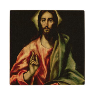 Christ Blessing 2 Wooden Coaster