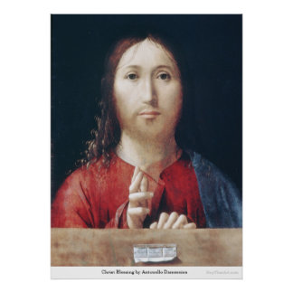 Christ Blessing by Antonello Damessina Poster