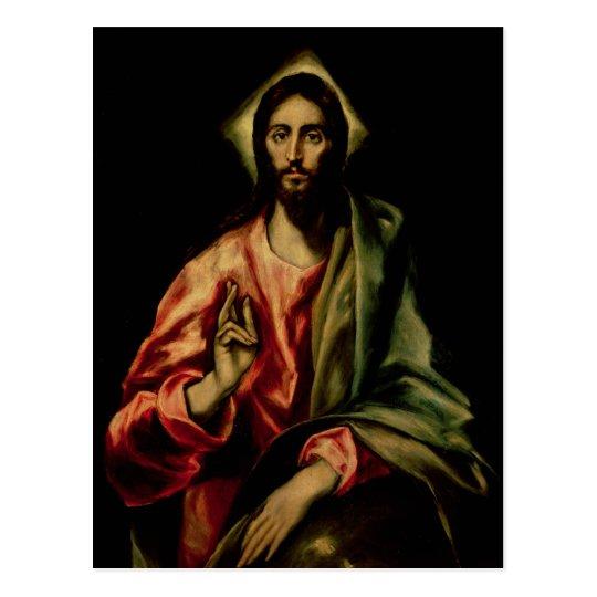 Christ Blessing Postcard