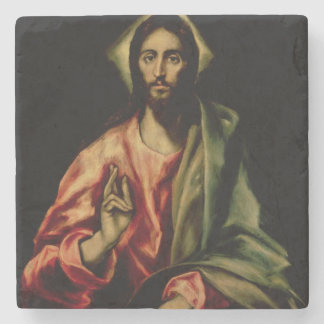 Christ Blessing Stone Coaster