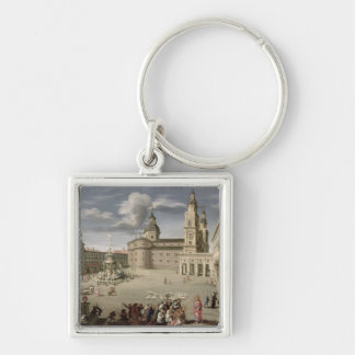 Christ blessing the people of Salzburg Silver-Colored Square Keychain
