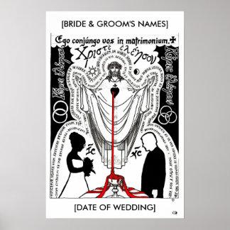 Christ Blessing Wedding Print