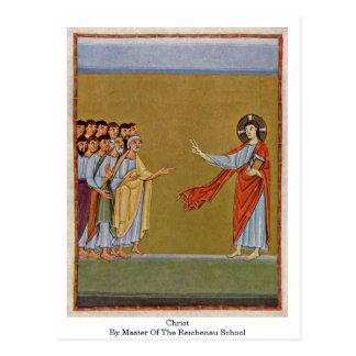 Christ By Master Of The Reichenau School Postcard