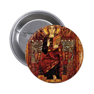Christ By Meister Der Hofschule Karls Des Großen ( Pinback Button