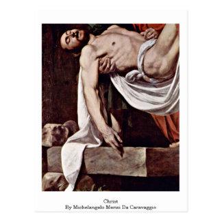Christ By Michelangelo Merisi Da Caravaggio Postcard