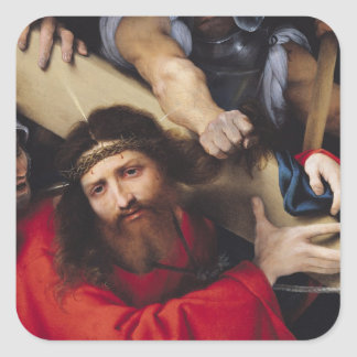 Christ Carrying the Cross, 1526 Square Sticker