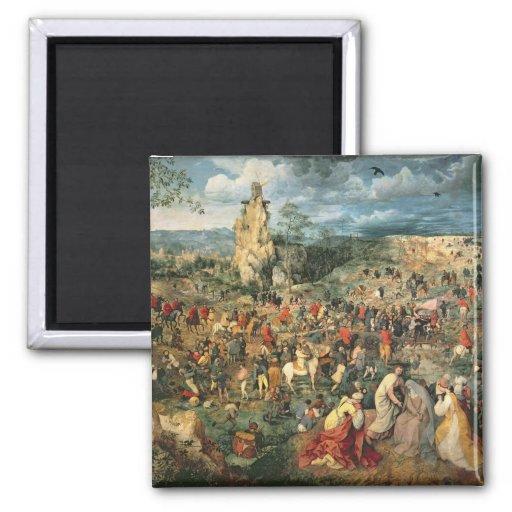 Christ carrying the Cross, 1564 Fridge Magnet