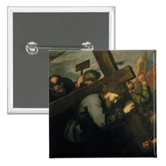 Christ Carrying the Cross, 1635 Pinback Button