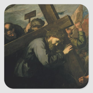 Christ Carrying the Cross, 1635 Square Sticker