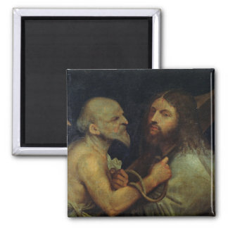 Christ Carrying the Cross 2 Inch Square Magnet