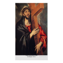 Christ Carrying the Cross  by EugeneGreco Posters