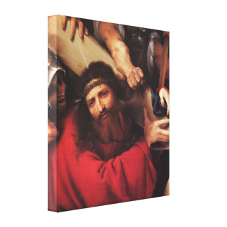 Christ Carrying the Cross by Lorenzo Lotto Stretched Canvas Prints
