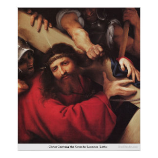 Christ Carrying the Cross by LorenzoLotto Poster