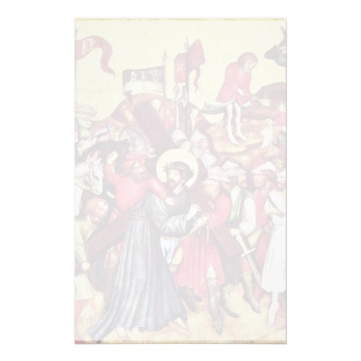 Christ Carrying The Cross By Meister Von Raigern ( Stationery