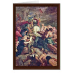 Christ Carrying The Cross By Rubens Peter Paul Greeting Card